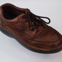 Dr Scholl's Victory Leather Oxfords Casual Brown Lace Up Shoes Mens Size 10 Wide