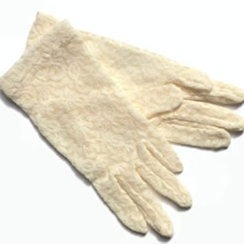 Vintage Lace Gloves - Children's Gloves Size 3 - NOS Unused - Cream Lace - Party | Wedding | Gift
