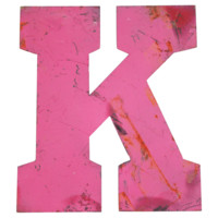 Salvaged Metal Marquee Letter K #huntersalley