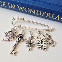 Alice In Wonderland Brooch