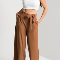 Summer Casual Bandage Ninth Woman Pants
