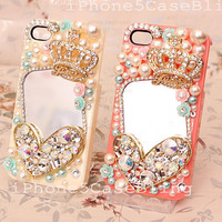 iPhone 4 Case, iPhone 4s Case, iPhone 5 Case, Cute iphone 4 case, best friend iphone 4 case, bling iphone 4 case, iphone 5 bling case mirror