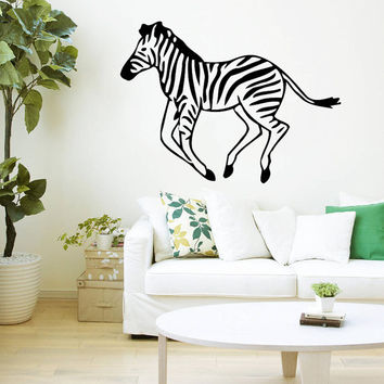 Wall Decal Vinyl Sticker Decals Art Home Decor Design Mural Zebra Animals Jungle Safari African Kids Children Nursery Baby Bathroom AN57