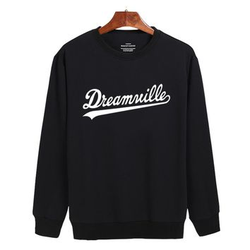 201 New Arrival Dreamville Records Hoodies Sudaderas Hombre Men's Hooded Sweatshirt Black/White Cotton Tracksuit Brand Clothing