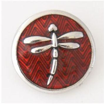 Dragonfly Snap-Metal Enamel- 20mm for Snap Jewelry