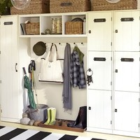 Modular Family Locker Entryway System