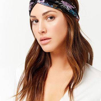 Floral Twist-Front Headwrap