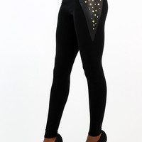 Obsession Studded High Waist Cotton Leggings