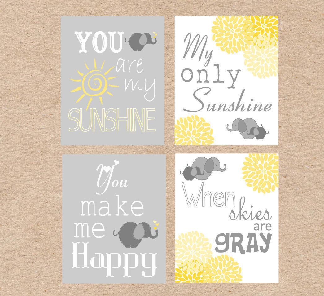 Elephant Nursery Art DIY Printable You From DecorableDesigns On