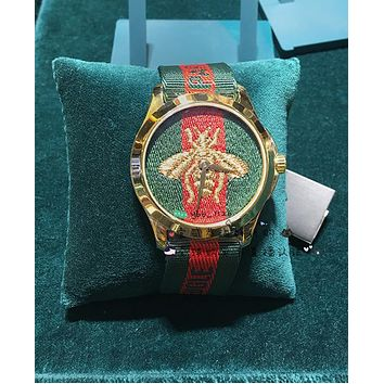 Gucci Big Bee Contrast Red Green Watch