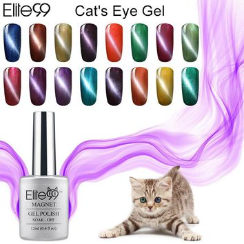 Elite99 New Color 12ml Cat Eye Gel Colors UV Nail Gel Polish Top Base Coat Needed High Quality Gel With 1 Magnet Stick