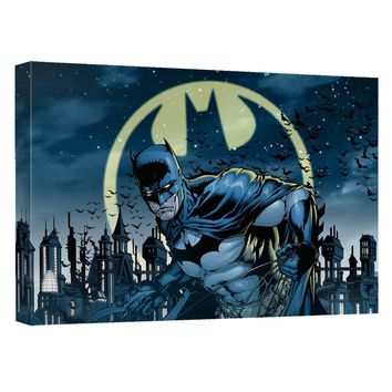 Batman - Heed The Call Canvas Wall Art With Back Board