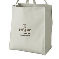 I believe embroidered tote bag | Zazzle