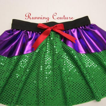 READY TO SHIP Small Ariel  inspired Sparkle Running Misses Round skirt