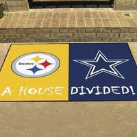 Pittsburgh Steelers/Dallas Cowboys NFL House Divided Rugs 33.75x42.5