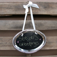 Shabby Chic Upcycled Metal Chalkboard