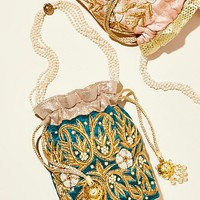 Bouquet Embellished Clutch