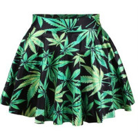 Women's Weed Printed Skirt