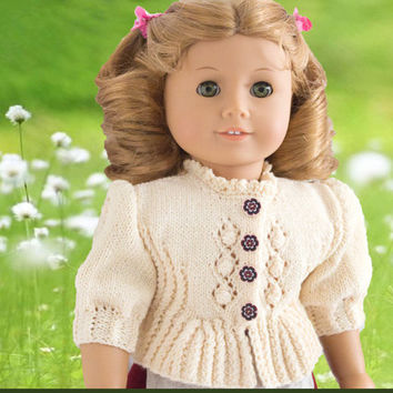 American Girl Doll Alpine Dirndl Folk Style Cardigan Jacket -  Knitting Pattern – Skill Level Intermediate