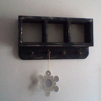 Black Small Shadow Box with pegs