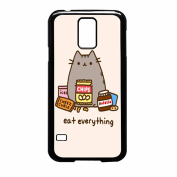 Pusheen The Cat Eat Everything Samsung Galaxy S5 Case