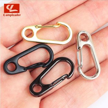 3pcs/set Campleader EDC Gear Carabiner Mini Aluminium Alloy Hang Buckle Survival Key Chain Clip Quickdraw Travel Tools CL004