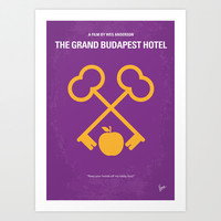 No347 My The Grand Budapest Hotel minimal movie poster Art Print by Chungkong