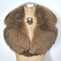 Large Fox Fur Collar / Mocha brown