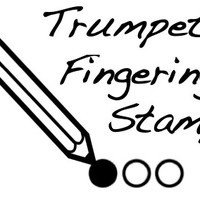 Trumpet/Brass Fingering Rubber Stamp -    A great teacher and student aid. (2 Stamps for 1 price)