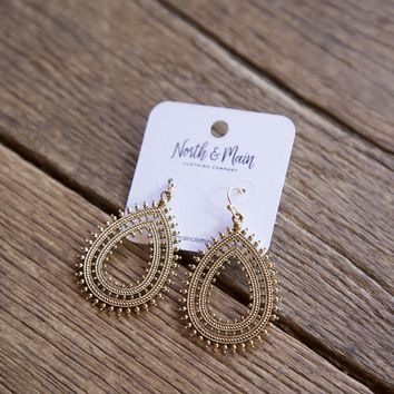 Carrie Earring, Gold