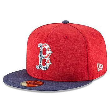 Boston Red Sox New Era 59FIFTY 2017 Stars & Stripes MLB Cap Hat Fitted 5950