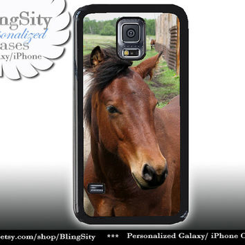 Horse Head S5 Case Equine Brown Horse Galaxy S4 Case S3 Cover Note 2 3 4 Shell Cover Skin Bumper Photo