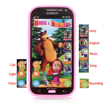 Russian Language Baby Mobile Phone Toy Masha And Bear Kids Children Electronic Music Toys Cellphone Telephone Gifts For Baby
