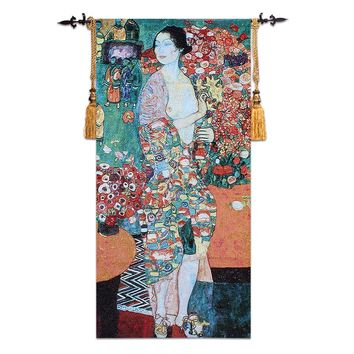 Klimt Famous Painting Dancer Wall Tapestry Belgium Art Wall Hanging Moroccan Decor Gobelin Medieval Wall Carpet 70*140cm tapiz