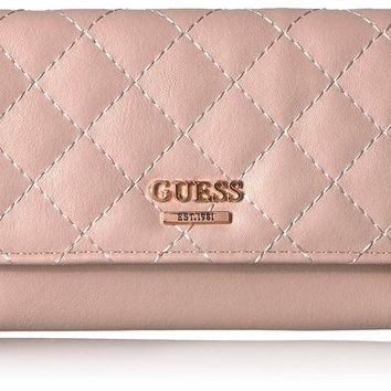 DCK4S2 GUESS Huntley Blush Slim Clutch Wallet