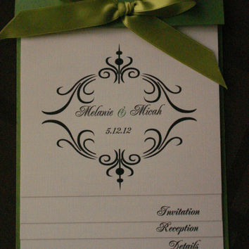 50 NEW Wedding inviations - Layered Booklet Wedding Invitation - 15th, 16th, 18th, 21st, 30th, 40th, 50th, 60th, Wedding