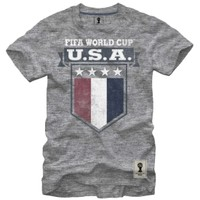 Fifth Sun Men's USA Soccer Badge Grey T-Shirt