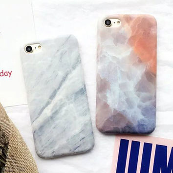 Tie-dyed and White Marble iPhone 7 7Plus & iPhone se 5s 6 6 Plus Case Best Protection Cover +Gift Box-518