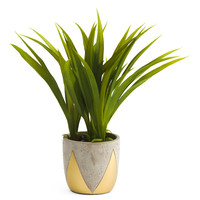 14in Faux Grass In Cement Pot - Faux Florals - T.J.Maxx