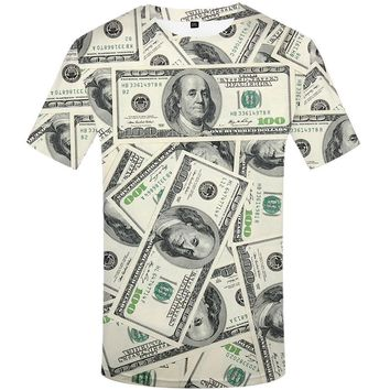One Hundred Dollars $100 Bills George Washington All-Over-Print T-Shirt