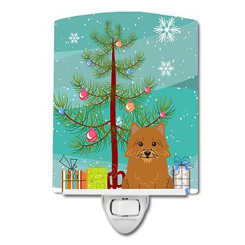 Merry Christmas Tree Norwich Terrier Ceramic Night Light BB4145CNL