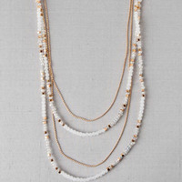 SOPHIA BEADED NECKLACE IN IVORY