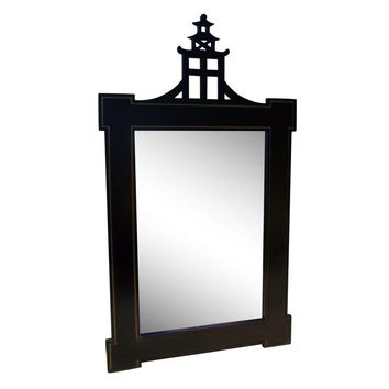 Pre-owned Contemporary Chinoiserie Style Pagoda Mirror