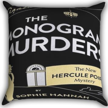 the monogram murders Zippered Pillows  Covers 16x16, 18x18, 20x20 Inches