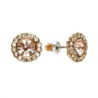 LC Lauren Conrad Button Stud Earrings (Yellow)