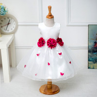 2-8Y Christmas girls flower dress butterfly  princess for party wedding age size 2t 3t 4 5 6 7 8  years toddler to teenage