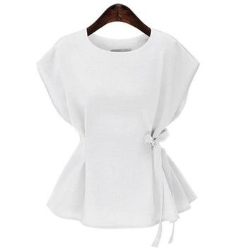 Vintage Sleeveless Women  Peplum Top