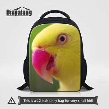 Toddler Backpack class Dispalang Little Kids School Bags 3D Parrot Print Small Backpack Toddler Baby Girls Schoolbag Children's Shoulder Schoolbag AT_50_3