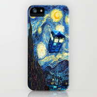 Tardis Doctor Who Starry Night iPhone & iPod Case by Pointsalestore