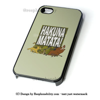 Disney Lion King Hakuna Matata! Barely There iPhone 4 4S 5 5S 5C 6 6 Plus Case , iPod 4 5 Case , Samsung Galaxy S3 S4 S5 Note 3 Note 4 Case , and HTC One X M7 M8 Case